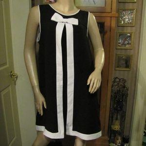 Sharagano Black & White Dress size 10
